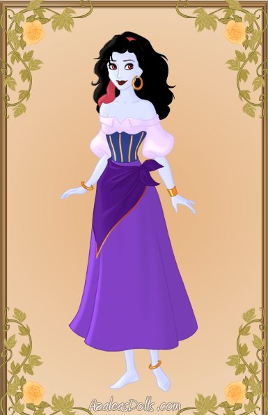 Ghoulish Esmeralda, Azalea doll  Heroine Creator picture image