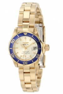 Invicta Women's  Pro Diver Collection 18k Gold-Plated Watch, Esmeralda women, Picture image