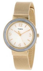 Timex Women's Ameritus Gold-Tone Stainless Steel Mesh Bracelet Dress Watch phoebus picture image