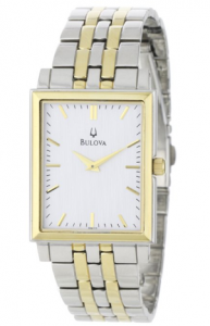 Bulova Men's  Classic Two-Tone Tank Watch Djali picture image