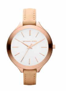 Michael Kors Runway Slim Rose Vachetta Women's Watch, sister gudule, picture image
