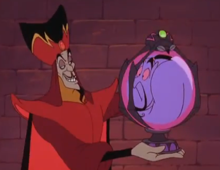 Jafar trapping Genie in an orb with a Spider lock, The Return of Jafar picture image