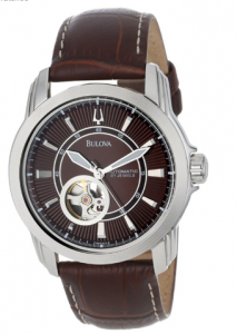 Bulova Men's Automatic Mechanical Brown Leather Strap Dial Watch, Quasimodo men, picture image