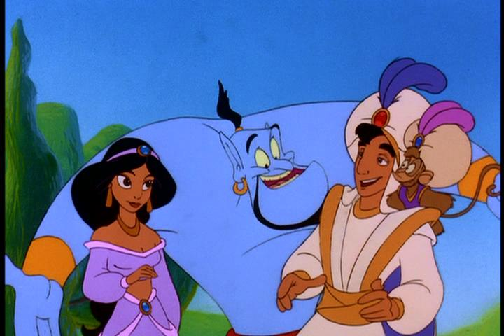 Jasmine, Genie, Aladdin and Abu, The Return of Jafar picture image