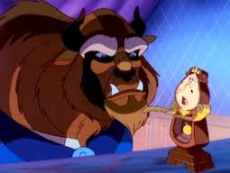Beast and Cogsworth, Belle's Magical World picture image