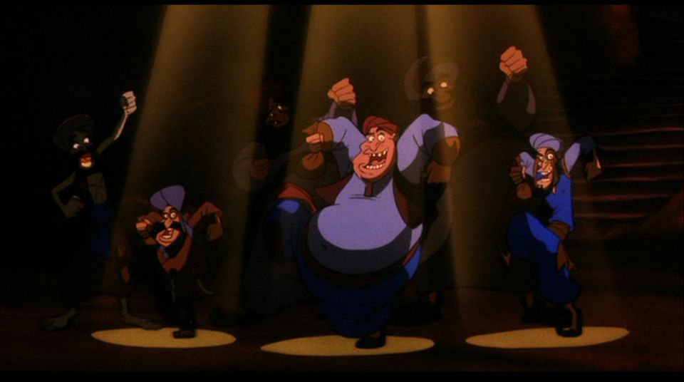Thieves singing,  Aladdin and the King of Thieves picture image