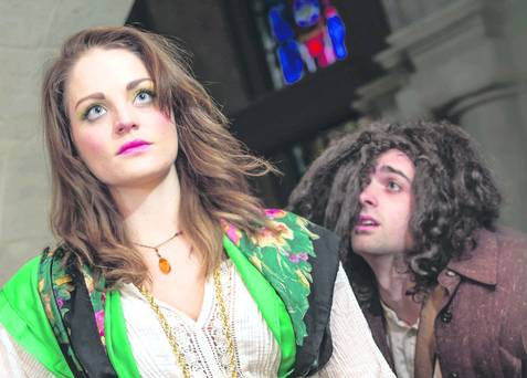 Ciara Louise Baxter as Esmeralda & Christopher Finn as Quasimodo Hunchback musical belfast