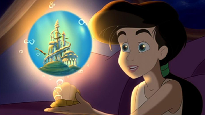 Melody with her locket, The Little Mermaid II; Return to the Sea picture image