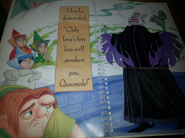 Ursula demands that only love's first kiss will awaken Quasimodo Disney's Mix and Match Villains Book  picture image