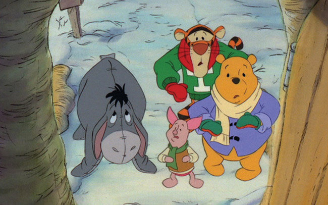 Eeyore, Piglet, Tigger and Pooh Winnie the Pooh: A Very Merry Pooh Year picture image
