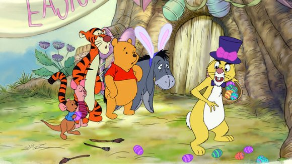 Roo, Tigger, Pooh, Eeyore, & Rabbit, Winnie the Pooh Springtime with Roo  picture image