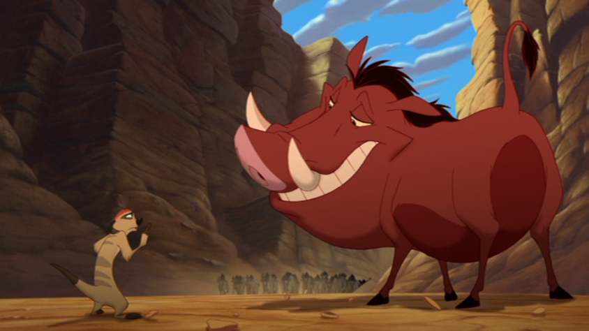 Timon and Pumbaa and the Stampede The Lion King 1 1/2  picture image