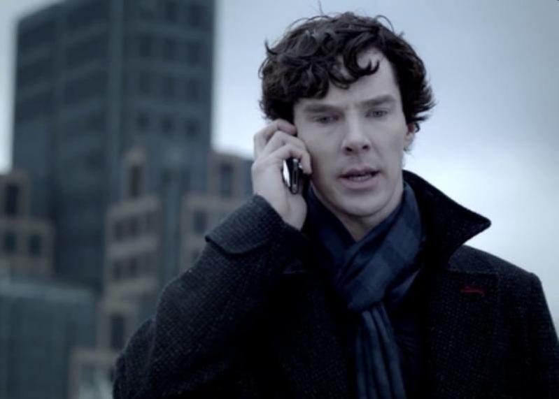 Benedict Cumberbatch as Sherlock Holmes in Sherlock picture image