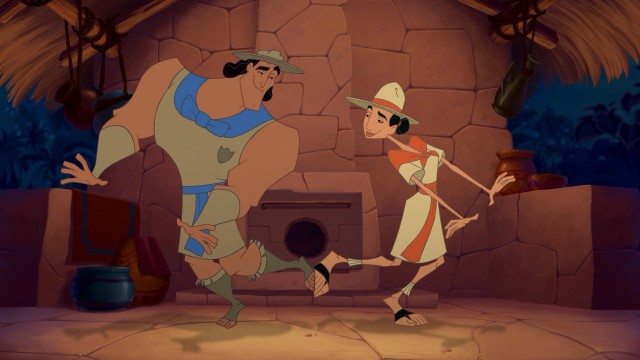 Kronk and Miss Birdwell danceKronk's New Groove picture image