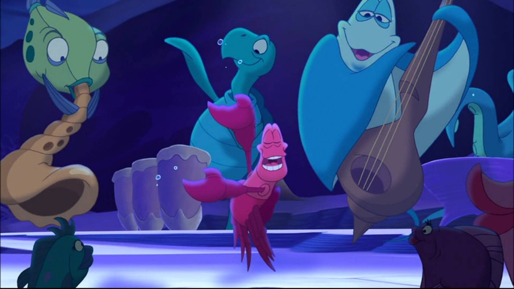 Sebastian singing Jump in the line The Little Mermaid: Ariel's Beginning picture image