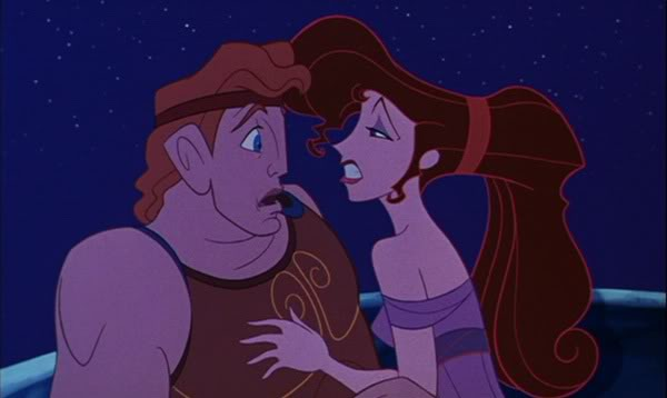 Megara seduces Hercules picture image