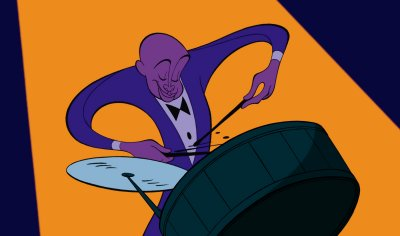 Drummer from Rhapsody in Blue Fantasia 2000 picture image