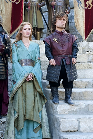 Lena Heady as Cersei Lannister & Peter Dinklage as Tyrion Lannister in Game of Thrones  picture image