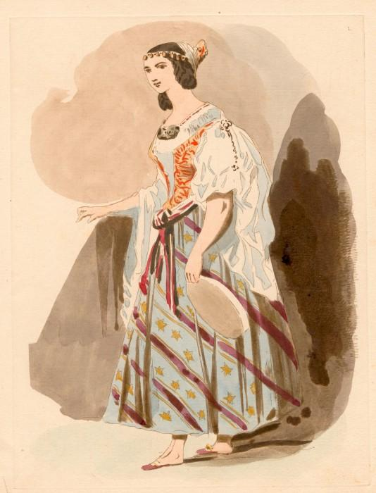 Costume design from the Opera La Esmeralda  picture image