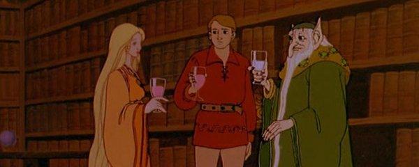 Princess Milisande, Peter Dickinson, and Carolinius The Flight of Dragons picture image