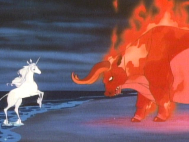 The Unicorn and The Red Bull The Last Unicorn picture image