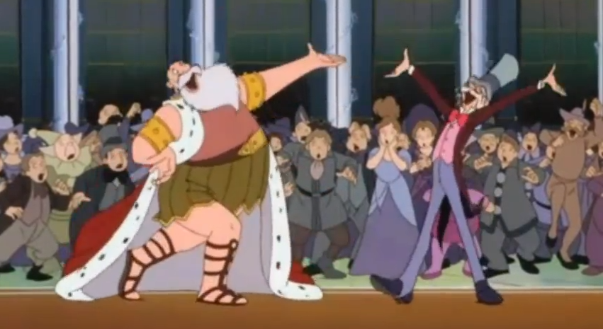 Morpheus and Professor Genius awkward dancing Little Nemo: Adventures in Slumberland picture image
