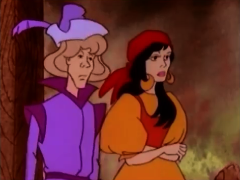 Esmeralda and Gringoire 1986 the Hunchback of Notre Dame picture image