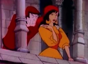 Frollo & Esmeralda 1986 Hunchback Notre Dame picture image