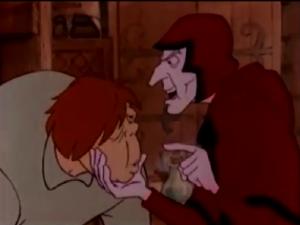 Quasimodo and Frollo 1986 Hunchback Notre Dame  picture image