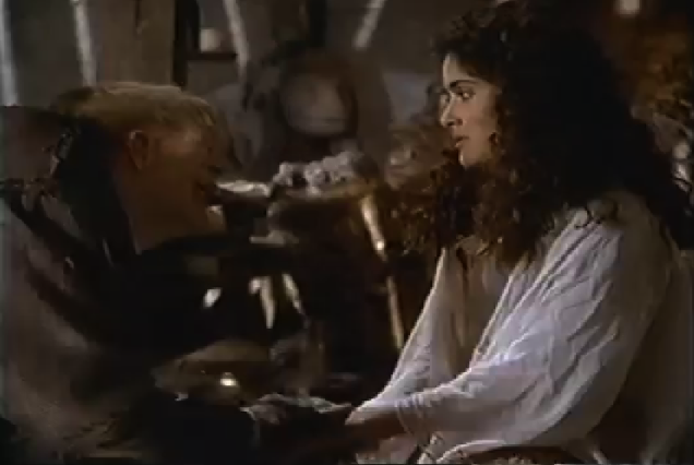 Salma Hayek as Esmeralda & Mandy Patinkin as Quasimodo, 1997 The Hunchback picture image