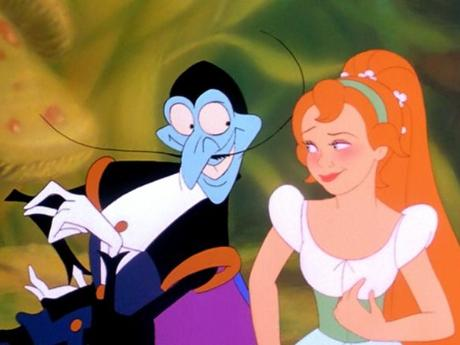 Thumbelina with Mr  Beetle picture image