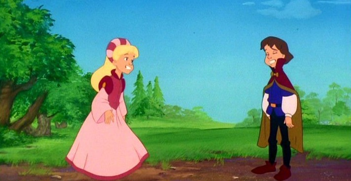 Derek and Odette The Swan Princess picture image