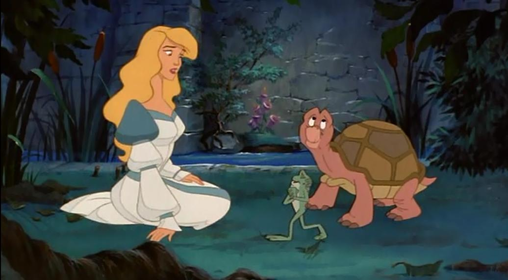 Odette with Speedy and Jean-Bob The Swan Princess  picture image