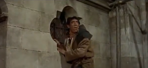 Anthony Quinn as Quasimodo finding Esmeralda gone 1956 Hunchback of Notre Dame picture image