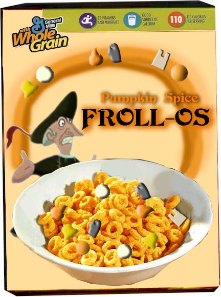 Pumpkin Spice Frollo Froll-Os hunchback Notre dame cereal