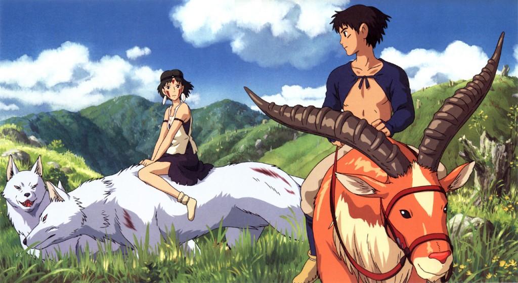 San and Ashitaka Princess Mononoke picture image