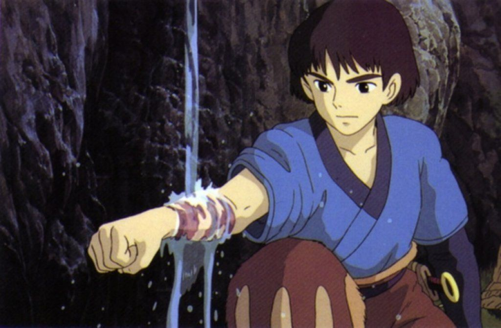 Ashitaka rising of his Curse Princess Mononoke picture image