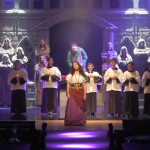 Esmeralda, Quasimodo and Ensemble performing God help the Outcast King's  Academy Hunchback of Notre Dame   picture image