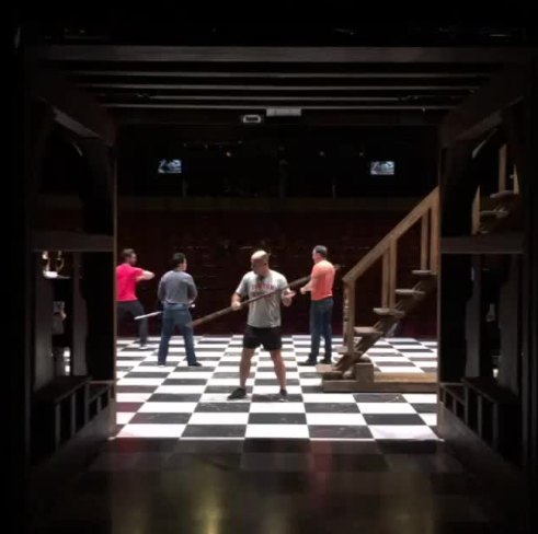 Behind the Scenes, Fight Choreography Hunchback of Notre Dame Musical La Jolla  picture image