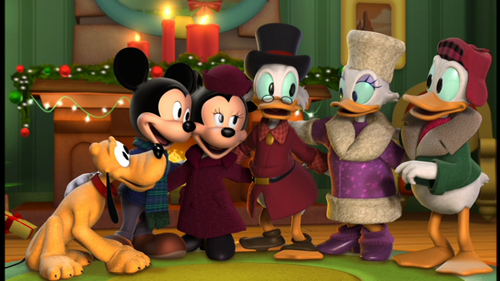 Pluto, Mickey, Minnie, Scrooge, Daisy, and Donald Mickey's Twice Upon A Christmas  picture image