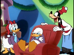 Donald with Daisy and Goofy Mickey's Magical Christmas:  Snowed in at the House of Mouse  picture image