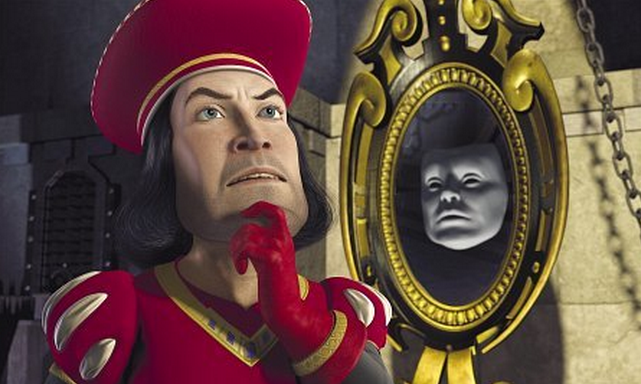 Lord Farquaad and the magic mirror shrek picture image