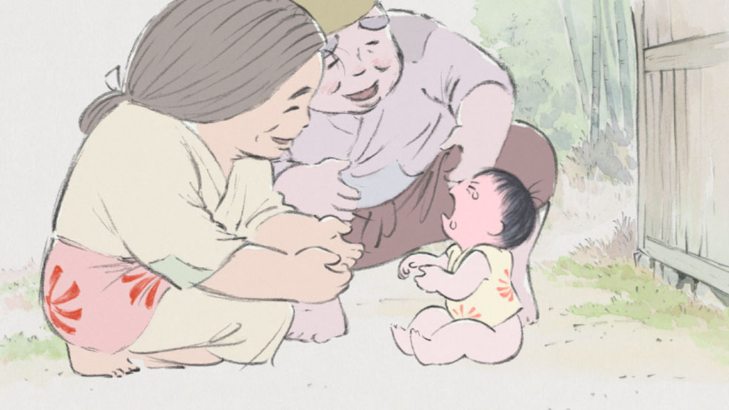 Kaguya as a baby and her parents The Tale of the Princess Kaguya picture image