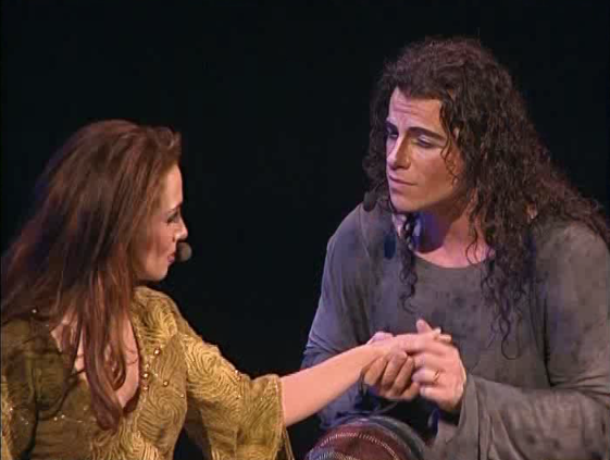 Bruno Pelletier as Gringoire with Helene Segara as Esmeralda in Notre Dame de Paris picture image