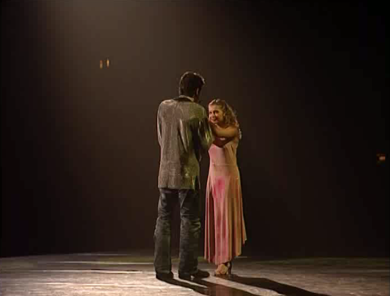 Julie Zenatti as Fleur-de-Lys with Patrick Fiori as Phoebus, Notre Dame de Paris picture image
