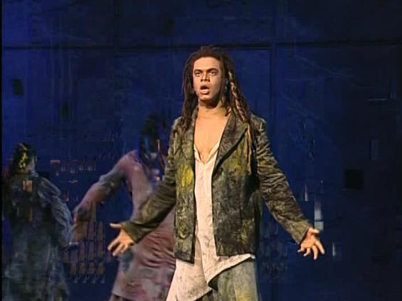 Luck Mervil as Clopin singing Le Sans Papiers, Notre Dame de Paris picture image
