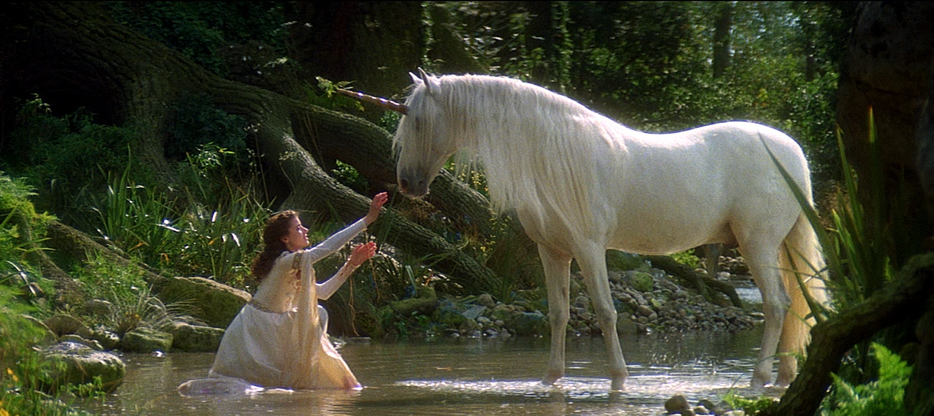 Mia Sara as Lili with the Unicorn Legend picture image