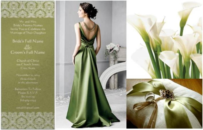 Dark Green and Light Grey Wedding Ideas picture image