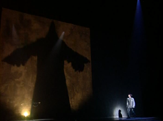 Daniel Lavoie as Shadow Form Frollo with Patrick Fiori as Phobus performing L'Ombre Notre Dame de Paris picture image