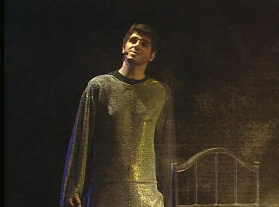 Patrick Fiori as Phoebus in La Volupté with his prize winning Smug look Notre Dame de Paris  picture image